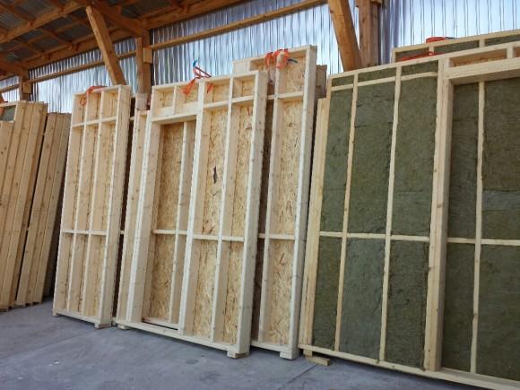 kit casa pe structura de lemn
